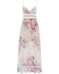 Zimmermann - Laelia Diamond Bralette Dress In Meadow Floral - Lyst