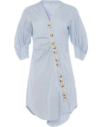 Tibi - Jones Striped Shirtdress In Blue Multi - Lyst