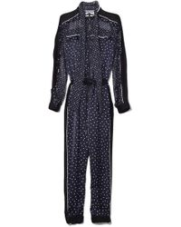 Sacai - Women's Polka Dot Jumpsuit - Navy - Size 1 (xs) - Lyst