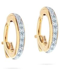 Adina Reyter - Pave Huggie Hoops In Yellow Gold - Lyst