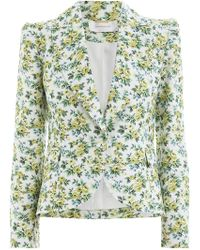 Zimmermann - Golden Fitted Blazer In Lemonade Acid Floral - Lyst