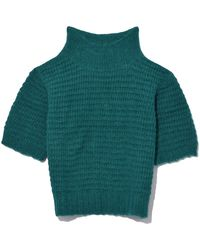 Rachel Comey - Cropped Tee In Emerald - Lyst