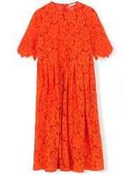 bc8b94e7c8f Ganni - Jerome Lace Dress In Big Apple Red - Lyst
