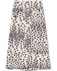 9b4acd00792c Miu Miu Bi-colour Belted Leather Skirt in Black - Lyst