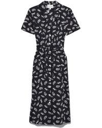 HVN - Cotton Maria Button Down Dress In Tarzan Leopard - Lyst