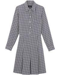 A.P.C. - Pauline Dress In Navy - Lyst