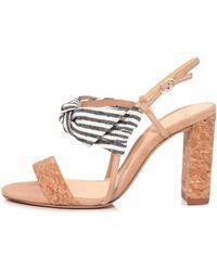 Alexandre Birman - Kallie Cork Sandal In Natural/nude - Lyst