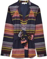 Apiece Apart - Millennia Navy Stripe Carina Wrap Jacket - Lyst