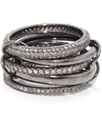 Theodosia - 5 Part Oxidized Silver Ring - Lyst