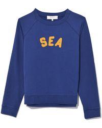 Sea - Felt Letter Sweatshirt In Blue - Lyst