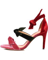 Alexandre Birman - Lolita Sandal In Dusty Rose/rifle Green/flame Red - Lyst
