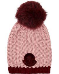 Moncler - Fox Fur Bobble Hat - Lyst