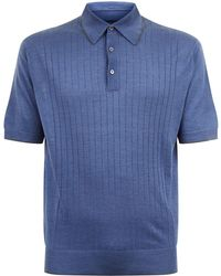 Stefano Ricci | Ribbed Polo Shirt, Purple, It 58 | Lyst