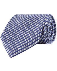 Stefano Ricci - Silk Diagonal Stripe Print Tie - Lyst