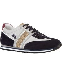 La Martina - Suede Panel Trainers - Lyst