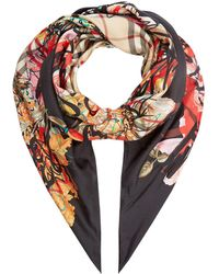 Burberry - Floral Scribble Scarf - Lyst