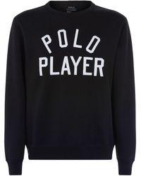 Ralph Lauren | Polo Player Embroidered Sweatshirt | Lyst