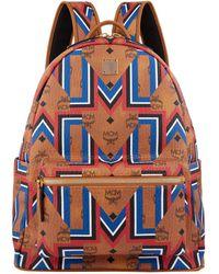 MCM | Stark Geometric Print Backpack | Lyst