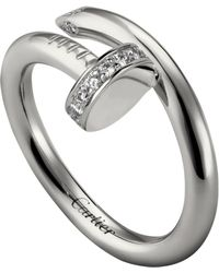 Cartier - White Gold And Diamond Juste Un Clou Ring - Lyst