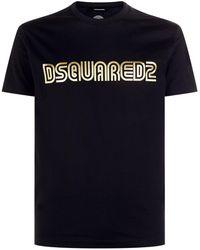 DSquared² - Metallic Logo T-shirt - Lyst