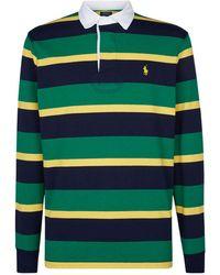 e4e87c439 Polo Ralph Lauren Stripe Rugby Shirt in Blue for Men - Lyst