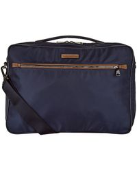 Lyst - Giorgio Armani Leather Trim Shoulder Bag in Blue for Men 6b4a4c5edd0f8