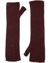 Harrods - Knitted Cashmere Fingerless Wrist Warmers - Lyst