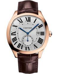 Cartier - Pink Gold Drive De Watch 40mm - Lyst