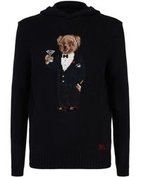 Polo Ralph Lauren - Wool Polo Bear Knit Hoodie - Lyst