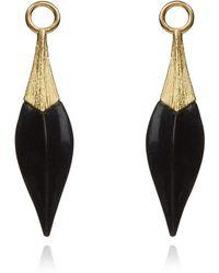 Annoushka - Yellow Gold And Ebony Earring Drops - Lyst