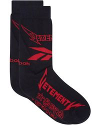 Vetements X Reebok Metal Cotton Blend Socks