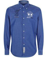 La Martina - Embroidered Cotton Shirt - Lyst