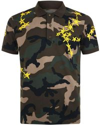 Valentino - Star Camouflage Polo Shirt - Lyst