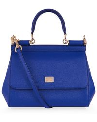 Dolce & Gabbana - Small Sicily Leather Tote - Lyst