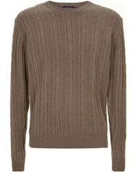 Hackett - Cable Knit Jumper - Lyst