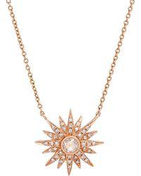 Kenza Lee - Sunburst Necklace - Lyst