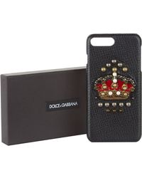 Dolce & Gabbana - Embellished Crown Iphone 7/8 Plus Case - Lyst