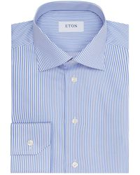 Eton of Sweden - Slim Fit Pinstriped Shirt - Lyst