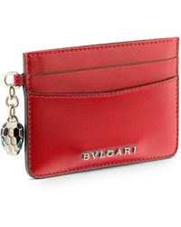 BVLGARI - Leather Serpenti Forever Card Holder - Lyst