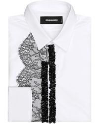 DSquared² - Lace Trim Shirt - Lyst