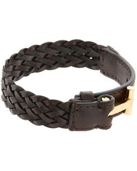 Tom Ford - Woven Leather Bracelet - Lyst