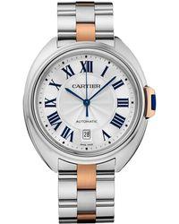 Cartier - Stainless Steel Cl De Watch 40mm - Lyst