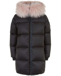 Mr & Mrs Italy - Reversible Fur Trim Down Coat - Lyst