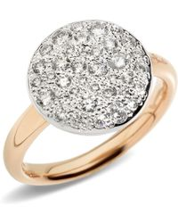 Pomellato - Sabbia Black Diamond Ring - Lyst