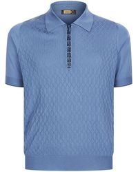Zilli | Alligator Trim Polo Top | Lyst