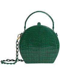 Nancy Gonzalez Crocodile Billie Box Bag - Green