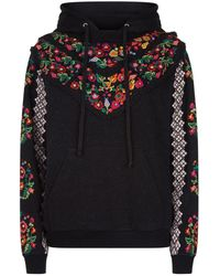 Needle & Thread - Cross Stitch Floral Hoodie - Lyst
