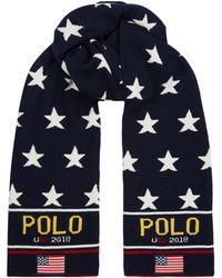 Polo Ralph Lauren - Flag Appliqu Star Scarf - Lyst