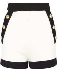 Balmain - High-waisted Shorts - Lyst