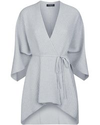 Harrods - Ribbed Tie Front Cardigan - Lyst